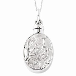 Versil Sterling Silver Butterfly Ash Holder Necklace