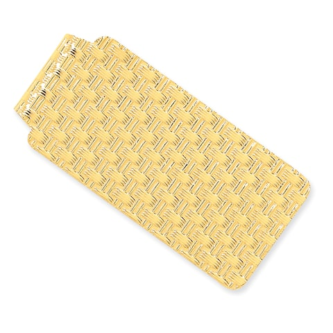 14 Karat Yellow Gold Dimpled Money Clip by Versil