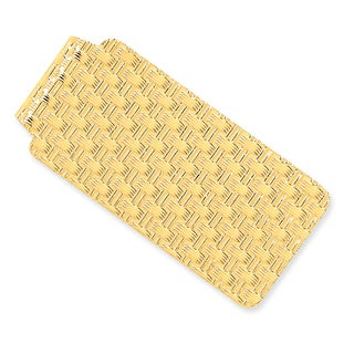 Versil 14 Karat Yellow Gold Dimpled Money Clip