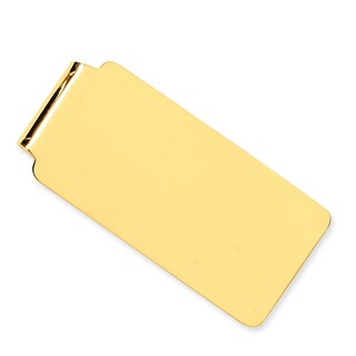 Versil 14k Yellow Gold Soft Edge Money Clip