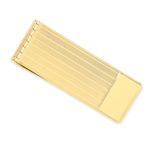 Versil 14k Yellow Gold Etched Money Clip