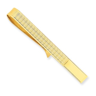 Versil 14k Yellow Gold Wave Tie Bar