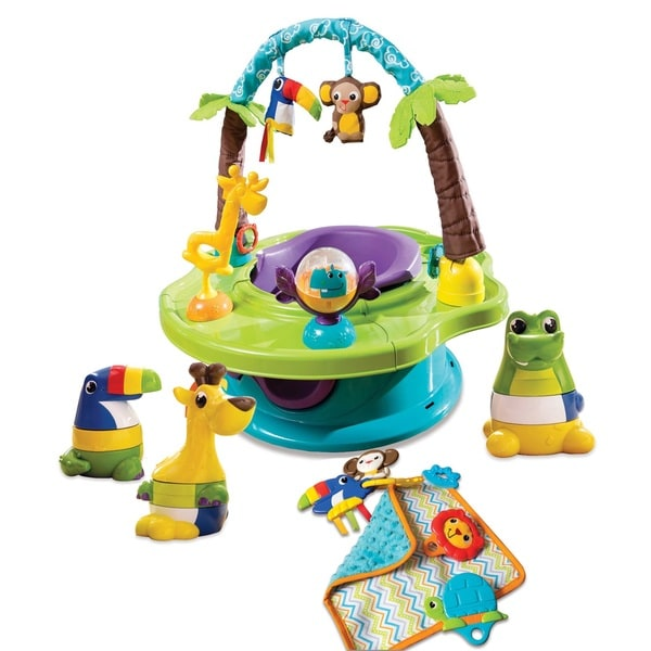 Kiddopotamus Super Duper Safari 3 Stage Activity Seat with Interactive Toys
