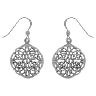Carolina Glamour Collection Sterling Silver Celtic Knot Round Filigree Dangle Earrings