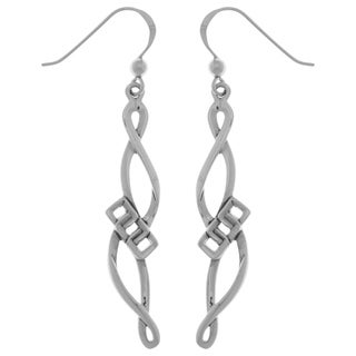 Carolina Glamour Collection Sterling Silver Infinity Swirl Dangle Earrings