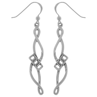 Sterling Silver Infinity Swirl Dangle Earrings