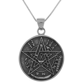 Carolina Glamour Collection Sterling Silver Large Seal of Solomon Star Pentacle Pendant