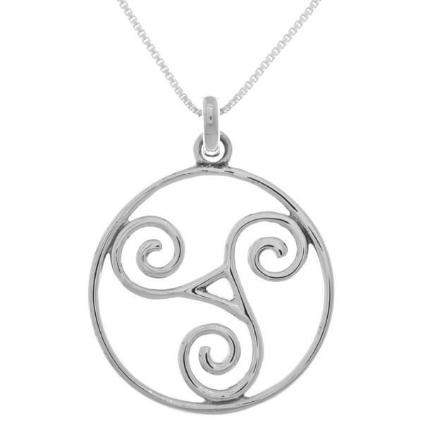 Shop sterling silver large celtic triskele spiral pendant on sale sterling silver large celtic triskele spiral pendant aloadofball Image collections