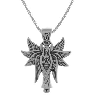 Sterling Silver Celtic Angel Fairy With Wings Pendant