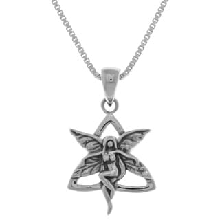 Carolina Glamour Collection Sterling Silver Celtic Trinity Knot Fairy Pendant