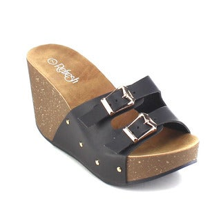 Beston AB28 Women's Slide On Wedge Sandals
