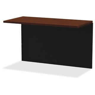 Lorell Walnut Laminate Comm. Steel Desk Series