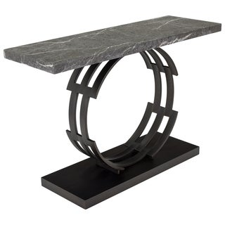 Safavieh Couture High Line Collection Taj Marble Black/ Brown Console Table