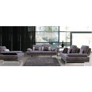 Luca Home Sofa, Love, Chair Grey Set