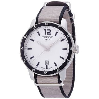 Tissot Men's T0954101703700 'Quickster' Extra Bands Grey Nylon Watch