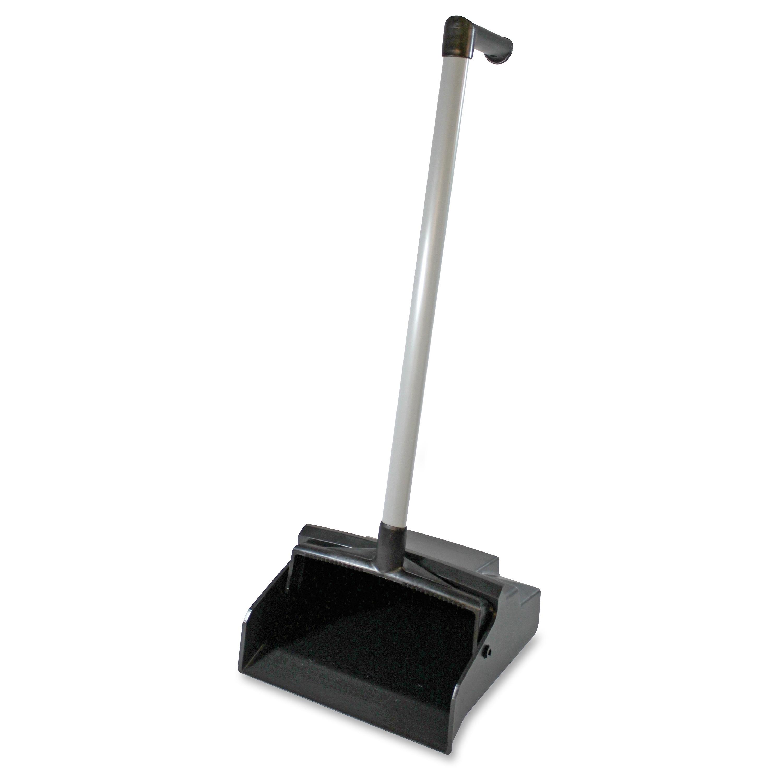Genuine Joe L-grip Plastic Lobby Dust Pan (Master), Black