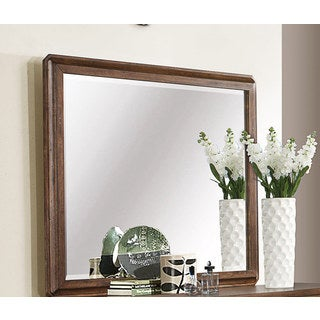 Harvest Brown Beveled Mirror