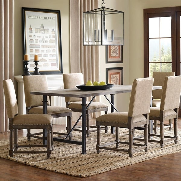 "Madison Park Kagen Grey Dining Table with Metal Legs - 72""W x 36""D x 30.25""H"