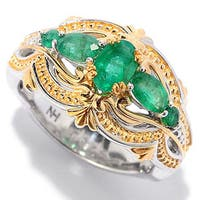 One-of-a-kind Michael Valitutti Zambian Emerald Ring