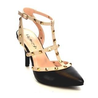 Refresh AB43 Women's Studded Stiletto Heel Heels