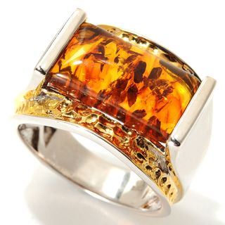 One-of-a-kind Michael Valitutti Baltic Amber Men's Ring
