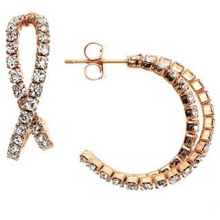 Isla Simone - Crystal 20mm Bypass Earring