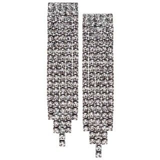 Isla Simone - Crystal Five Row Earring in Assorted Colors