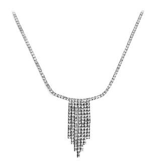 Isla Simone Crystal Seven Row Necklace