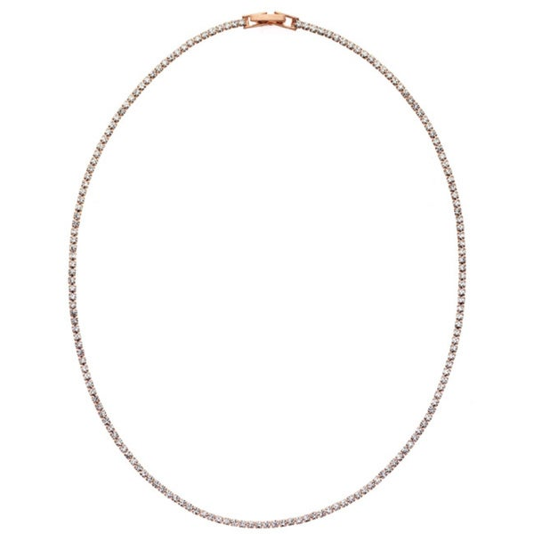 Isla Simone - Crystal Single Row Necklace in Assorted Colors. Opens flyout.