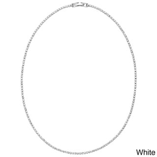 Isla Simone - Crystal Single Row Necklace in Assorted Colors