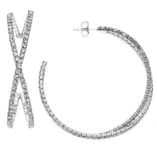 Isla Simone - Crystal 45mm Bypass Earring