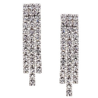 Isla Simone - Crystal Three Row Earring in Assorted Colors