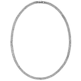 Isla Simone - Crystal Double Row Necklace in Assorted Colors