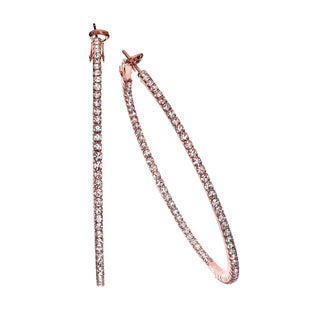 Isla Simone 60mm Single Row Inside Out Earring with Crystal