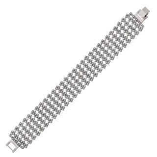 Isla Simone - Five Row Crystal Square Station Bracelet