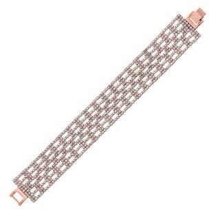 Isla Simone - 23 mm Box Pattern Crystal Bracelet