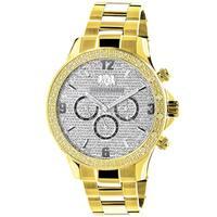 Luxurman Men's Goldplated 1/5Ct TDW Diamond Liberty 2705 Watch