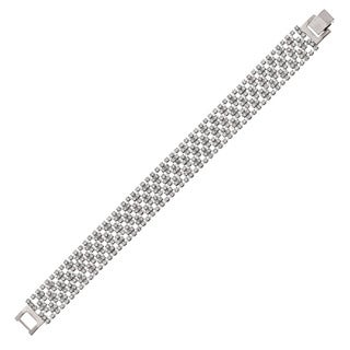 Isla Simone - 14.5 mm Argyle Pattern Crystal Bracelet