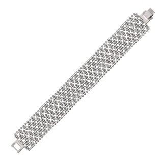 Isla Simone - 22 mm Argyle Pattern Crystal Bracelet
