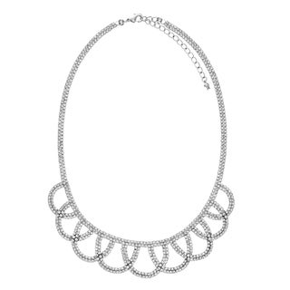 Isla Simone - U-Shape Multi-link Crystal Bib Necklace
