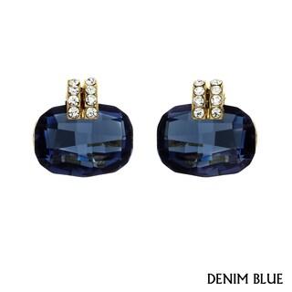 Isla Simone Goldplated Cushion-cut Earrings with Austrian Crystal