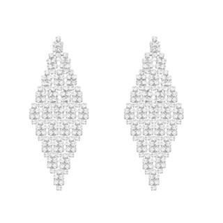 Isla Simone - Large Diamond Tiled Crystal Earring