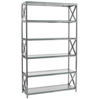 Safavieh Couture Collection Quinton Stainless Steel Storage Bookshelf