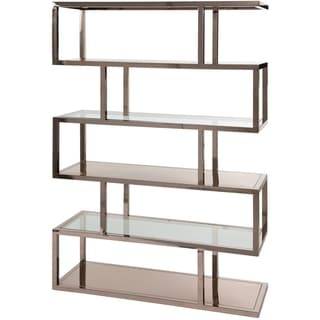 Safavieh Couture High Line Collection Gulliver Stainless Steel Storage Bookcase