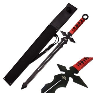 Fantasy Master Short Blade Sword 26-inch Overall with Red Handle