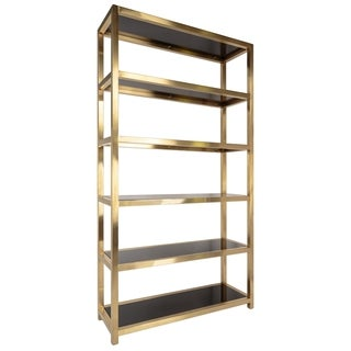 Safavieh Couture High Line Collection Musetta Gold Stainless Steel Storage Bookcase