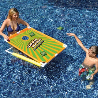 Floating Cornhole Bean Bag Target Toss Pool Toy Complete Set 2-pack