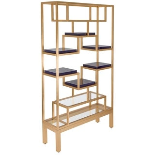 Safavieh Couture High Line Collection Yasmine Gold Leaf Etagere