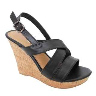 Beston EA83 Women's Slingback Wedge Sandals