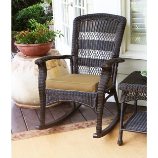 Link to Avoca Dark Roast Plantation Rocking Chair by Havenside Home Similar Items in Patio Chairs